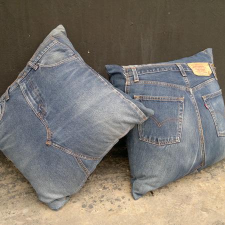 Denim jeans cushions