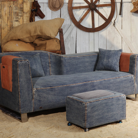 Creative reclaimed denim sofa covers for Creative reclaimed denim sofa covers